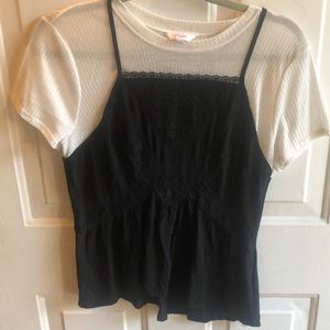 Candies layered tank top with shirt under attach